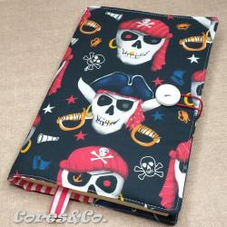 Capa de Livro Tecido Piratas