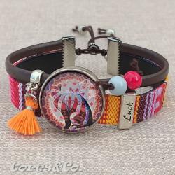 M Mandala Cat Luck Adjustable Bracelet