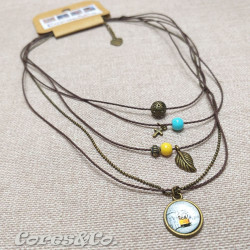 5 Layer Short Necklace Tram