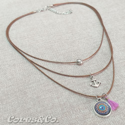 Mandala 3 Layer Short Necklace