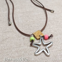 Long Adjustable Simple Necklace w/ Starfish