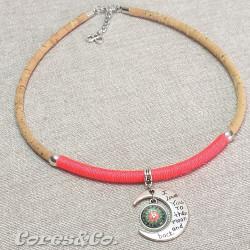 Moon & Mandala Cork Necklace