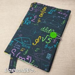 Capa de Livro Tecido Fórmulas Matemática