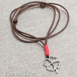 Lucky Clover Necklace w/ Salmon Line