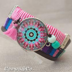 XL Mandala Wide Adjustable Bracelet