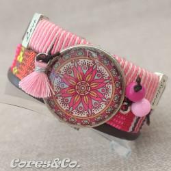 PLAXL13 - XL Mandala Wide Adjustable Bracelet
