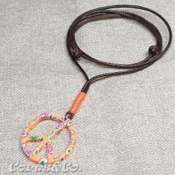 Peace Sign Orange Necklace