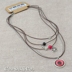 5 Layer Short Necklace Lucky Clover