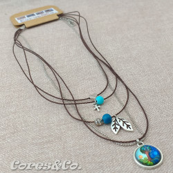 5 Layer Short Necklace Tree of Life