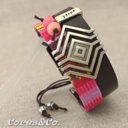 Boho Hope Wide Adjustable Bracelet