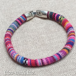 Pink Simple Ethnic Bracelet