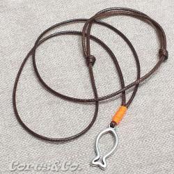 Fish Necklace w/ Orange Line