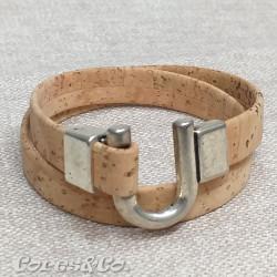 Natural Cork Two Turn Bracelet