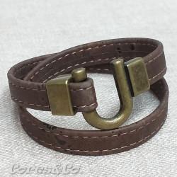 Brown Cork Two Turn Bracelet