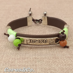 Peace Adjustable Bracelet