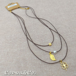 3 Layer Short Necklace Lucky Clover