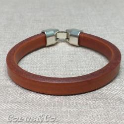 Camel Thick Leather Bracelet