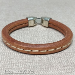Stitched Thick Leather Bracelet